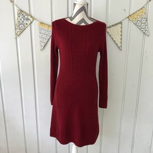 The Limited Burgundy Long Sleeve Sweater Dress